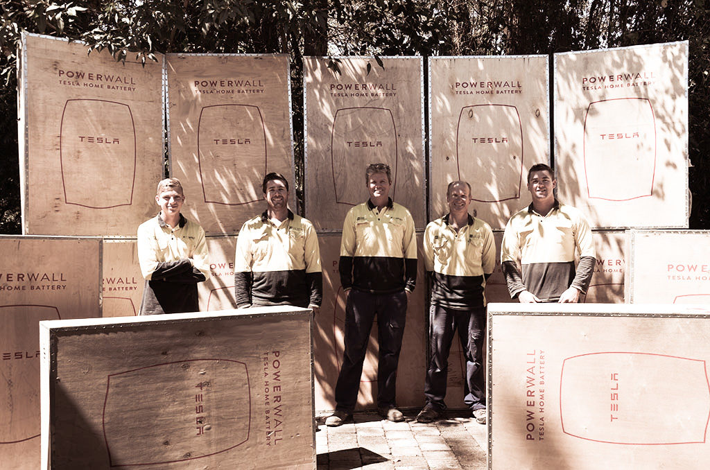 Our awesome Tesla Powerwall installations team