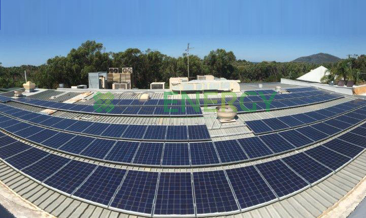 Hawks Nest Golf Club 80kW commercial solar installation