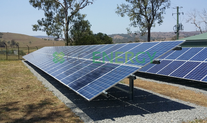 Qld Urban Utilities Boonah 30kW commercial solar installation