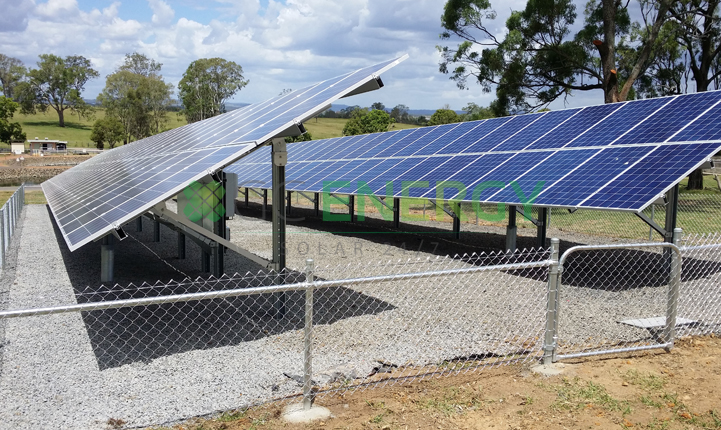 Qld Urban Utilities Gatton STP 30kW commercial solar installation