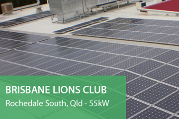 Brisbane-Lions-Club Solar Panel Installation Rochedale