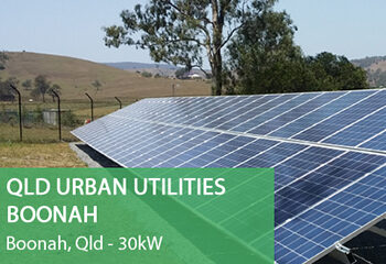 Qld-Urban-Utilities-Boonah Solar Panels