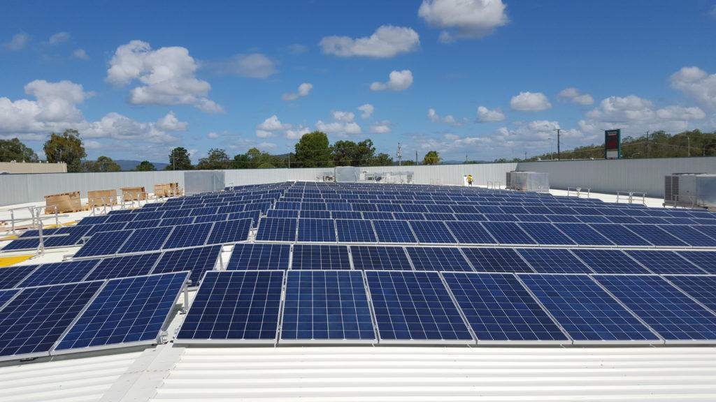 Commercial Solar Installation bunnings