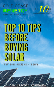 Gold Coast Solar 10 tips | Gold Coast Energy