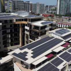Gold Coast solar power commercial installation building 110kW